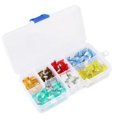 tsv 120 pcs assorted mini auto automotive car boat truck blade fuse box assortment kit 5 7 5 10 15 20 25 30amp car accessories walmart com [ 1600 x 1600 Pixel ]