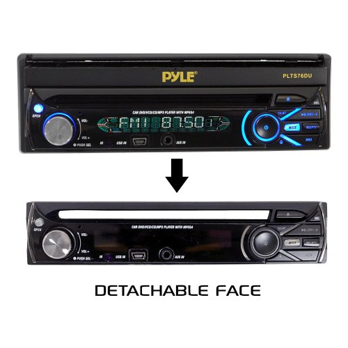 small resolution of pyle plts76du 7 touch screen motorized detachable tft lcd monitor with dvd cd mp3 am fm receiver walmart com