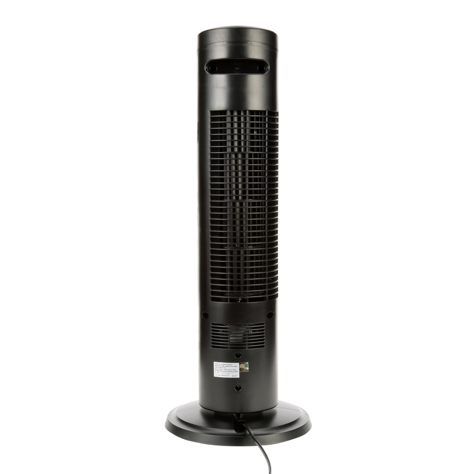 hight resolution of mainstays 27 oscillating tower 3 speed fan model fz10 10nb black