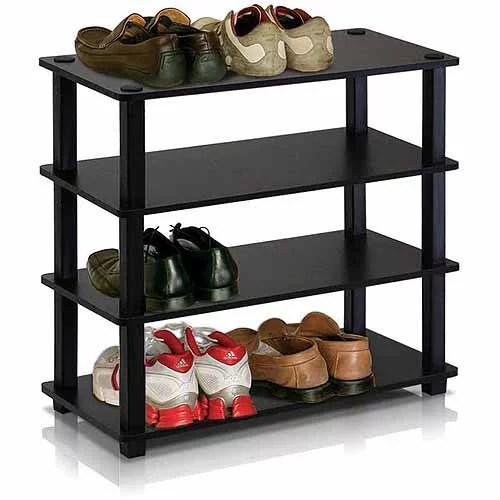furinno 13081 turn s tube no tools 4 tier shoe rack