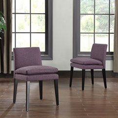 Purple Upholstered Dining Chairs Comfortable Desk Best Home Contemporary Linen Room Set Of 2 Walmart Com