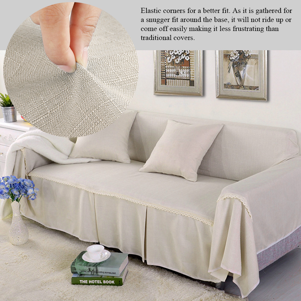 Chair Throw Covers Sonew Solid Colored Lace Border Sofa Couch Cover Chair Throw Mat Furniture Cover And Furniture Protector Slipcover