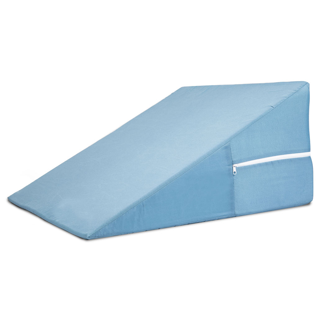dmi bed wedge pillow for sleeping supportive foam triangle pillow for head foot or leg elevation sleeping wedge pillow for acid reflux 12 x 24