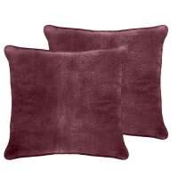 Veratex, Inc. Luxury Velvet Euro Pillow (Set of 2 ...