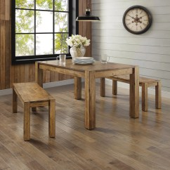 Kitchen Table Set With Bench Side Better Homes Gardens Bryant Dining Multiple Finishes Walmart Com