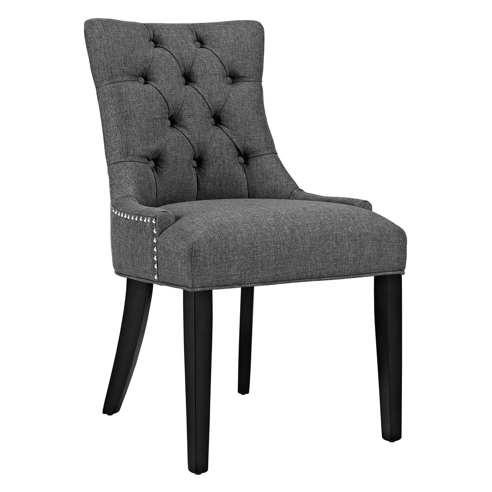 gray upholstered dining chairs doll high chair and accessories modway regent multiple colors walmart com