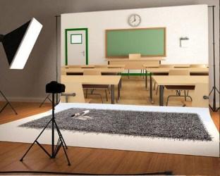 GreenDecor Polyster 7x5ft Back to School Backdrop Classroom Interior Blackboard Desks Chair Clock Wood Floor Photography Background Kids Children Adults Photo Studio Props Walmart com Walmart com