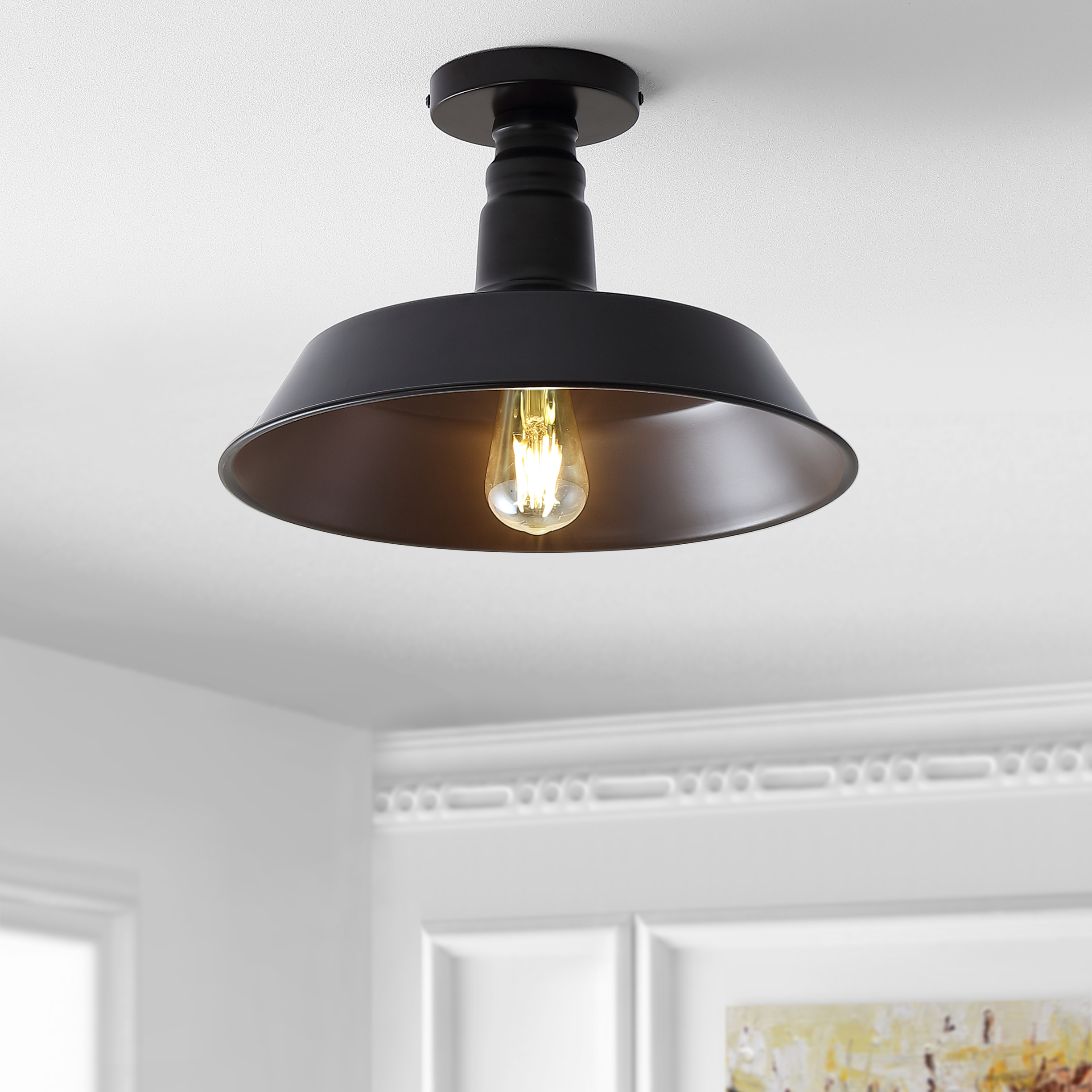 cassidy 14 metal led semi flush mount oil rubbed bronzeby jonathan y