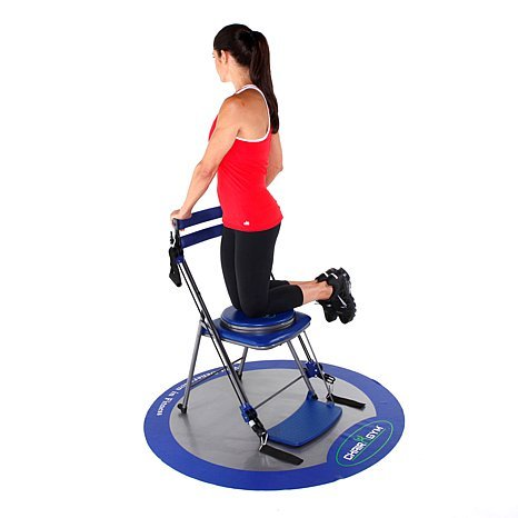 chair gym exercise system with twister seat cover rentals norfolk va as seen on tv total body workout blue walmart com