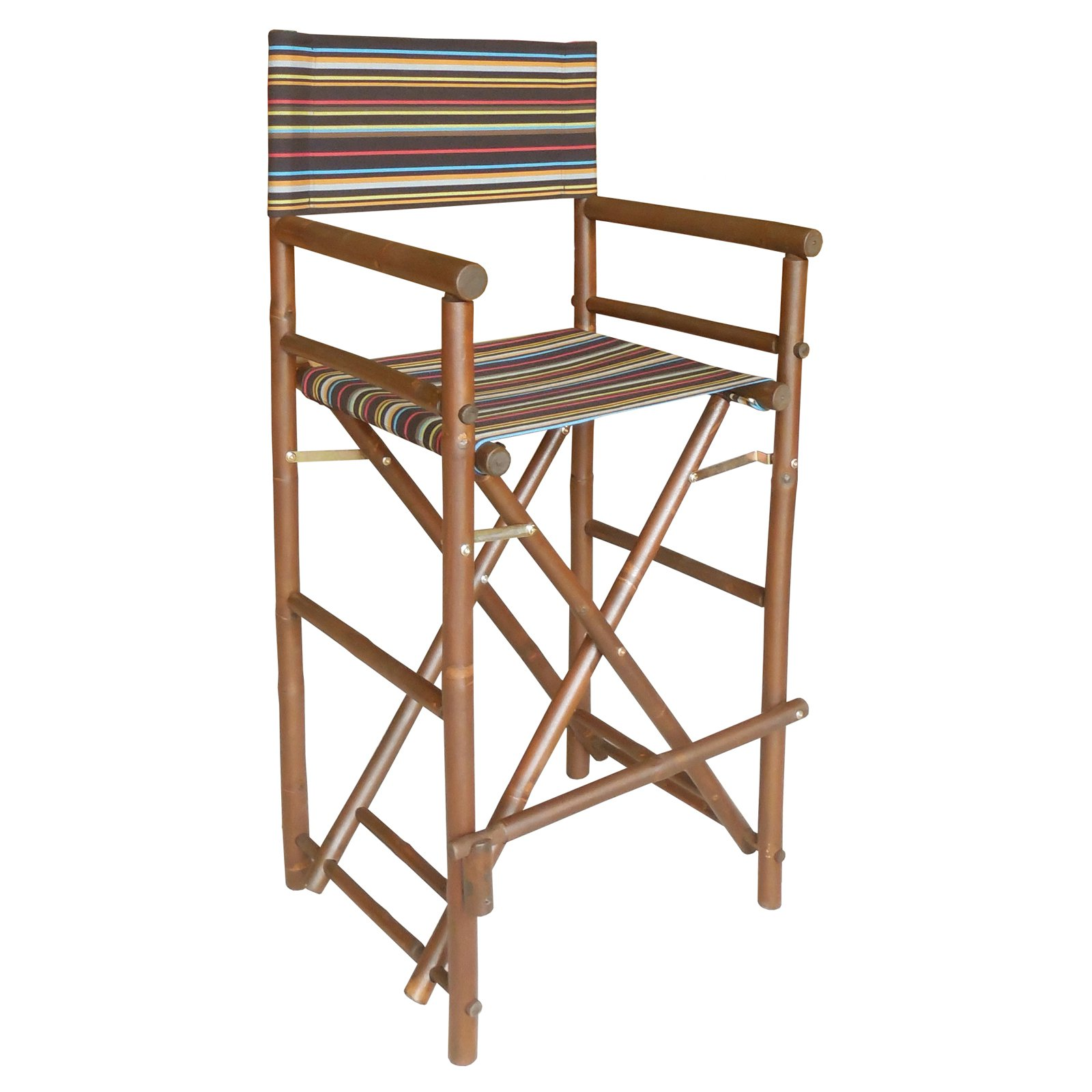 striped directors chairs baseball folding bamboo 29 in bar height chair with cover set of 2 walmart com
