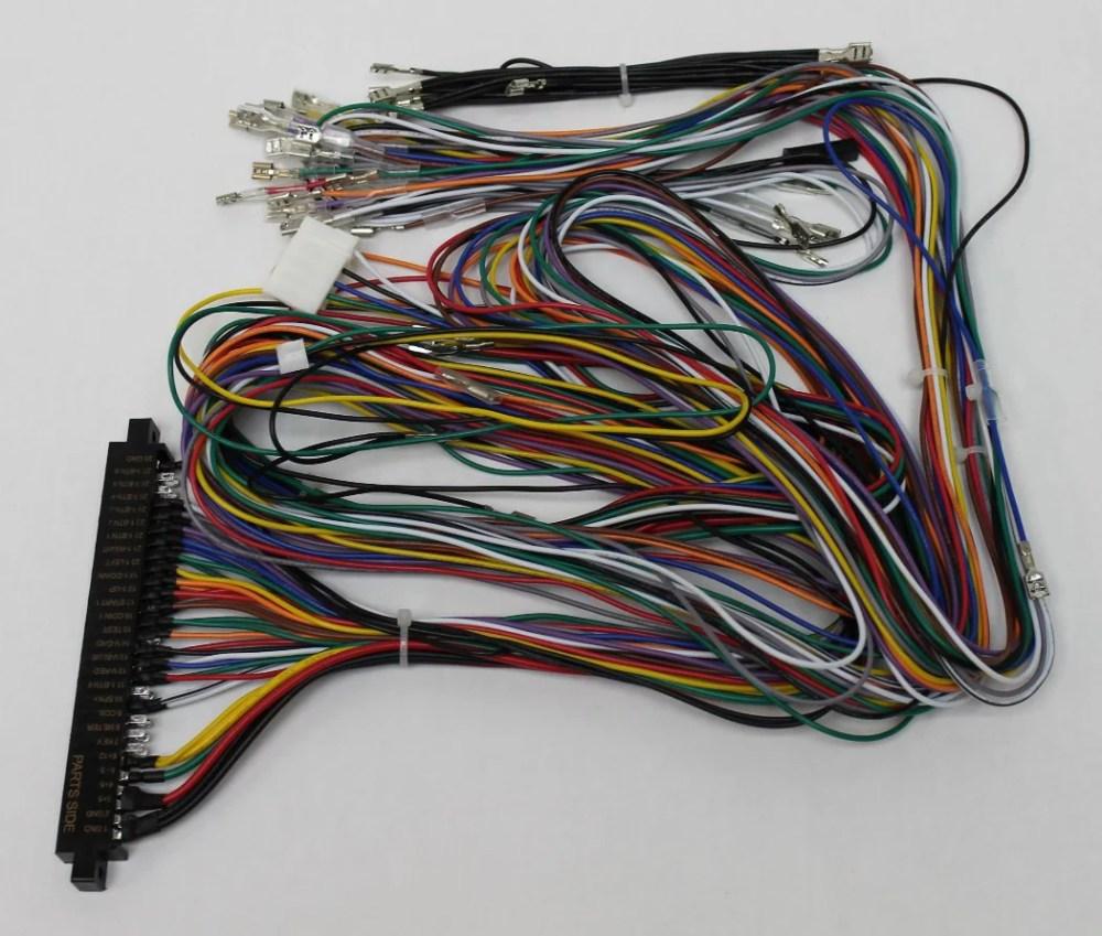 medium resolution of jamma board standard cabinet wiring harness loom for jamma 60 in 1 pcb board 738435028725 walmart com