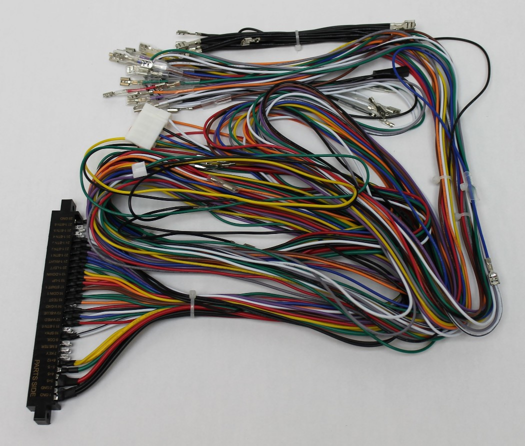 hight resolution of jamma board standard cabinet wiring harness loom for jamma 60 in 1 pcb board 738435028725 walmart com