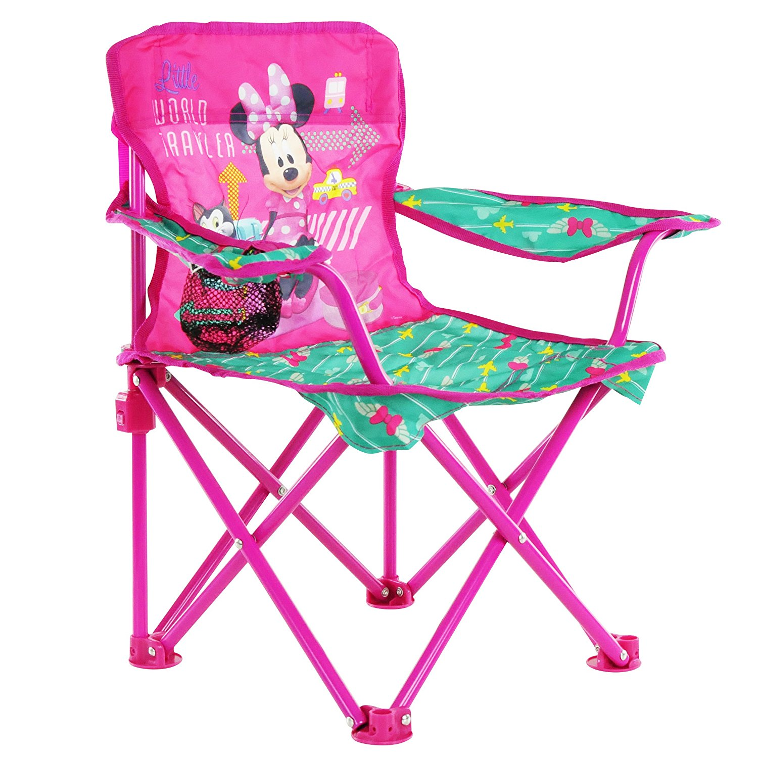minnie mouse folding chair neck support for office india disney jet set fold n go walmart com departments