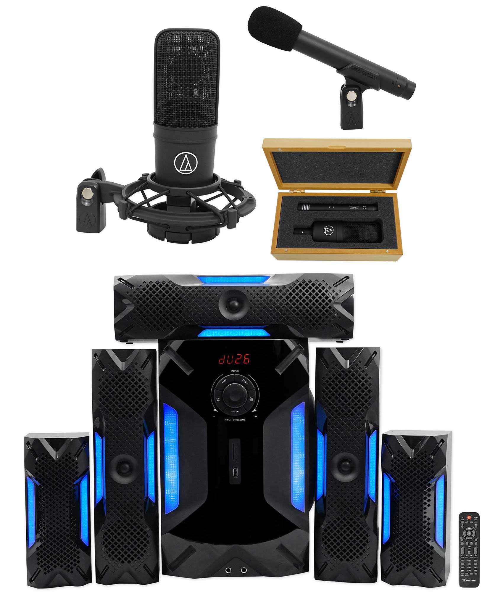 Audio Technica AT4040SPw/ AT4040+AT4041 Studio Microphones + Home Theater System