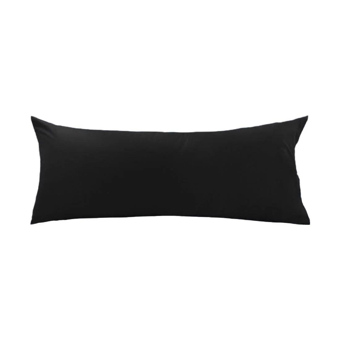 piccocasa silky soft egyptian cotton body pillowcase 21x55 black