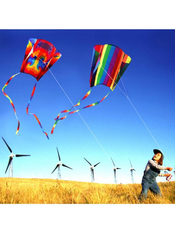 Topumt Rainbow Kite For Kids And Adults Outdoor Fun Easy