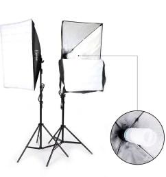 ubesgoo 135w photography studio softbox continuous lighting soft box light stand kit walmart com [ 1000 x 1000 Pixel ]