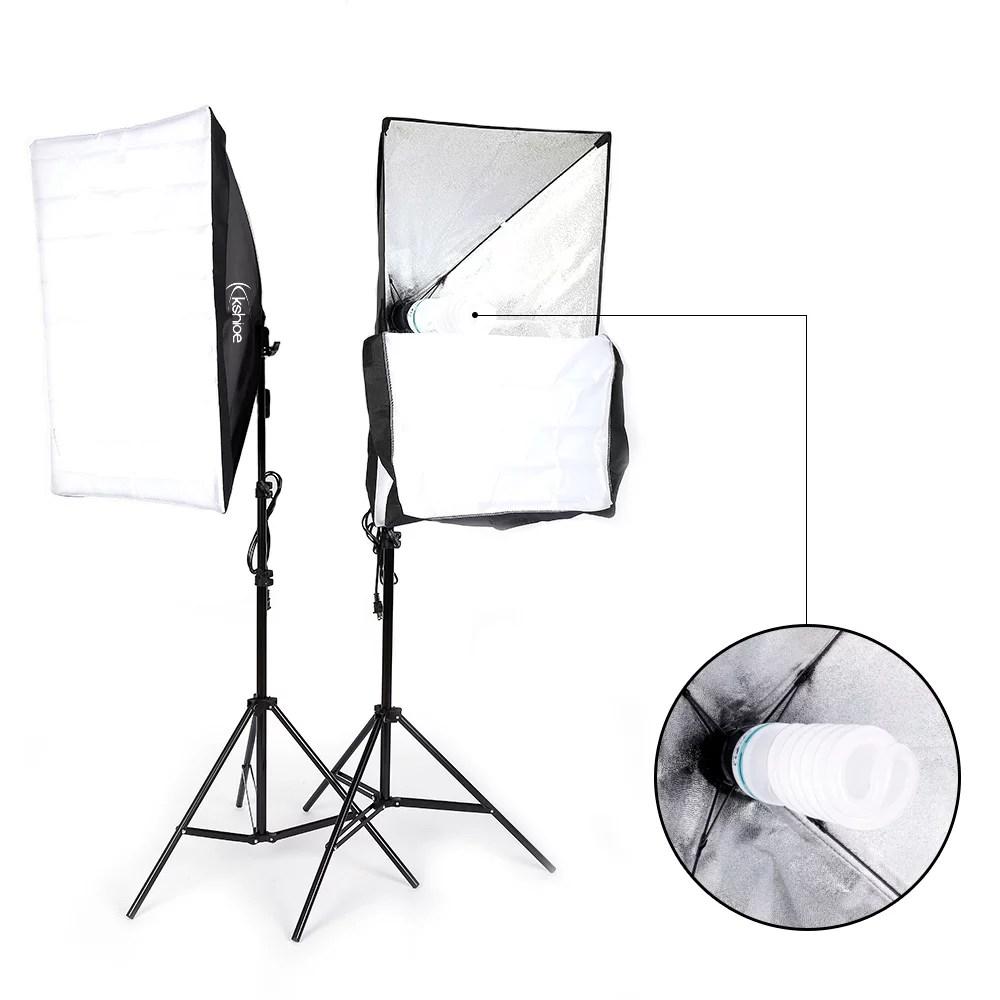 medium resolution of ubesgoo 135w photography studio softbox continuous lighting soft box light stand kit walmart com