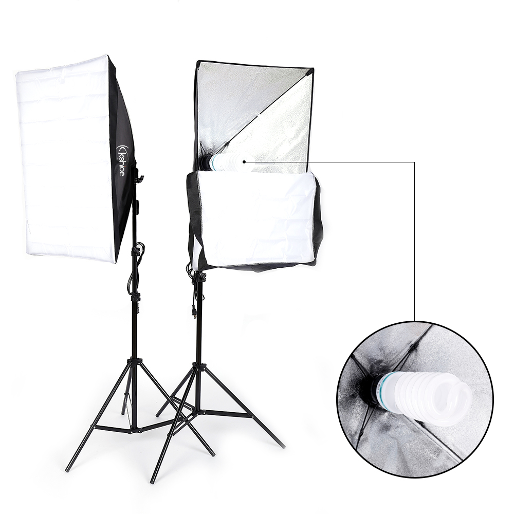 hight resolution of ubesgoo 135w photography studio softbox continuous lighting soft box light stand kit walmart com