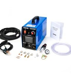 biltek 50amp air plasma cutter 1 2 inch cut 110v 220v input cut50d dc inverter dual voltage with pre installed 110v us plug portable easy quick setup  [ 1500 x 1500 Pixel ]
