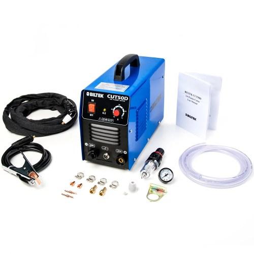 small resolution of biltek 50amp air plasma cutter 1 2 inch cut 110v 220v input cut50d dc inverter dual voltage with pre installed 110v us plug portable easy quick setup