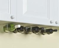 Under Cabinet 6 Wine Bottle Rack , Stainless Steel Metal ...