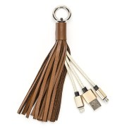 New USB Leather Tassel Key Chain Charging Cable for all Android Devices