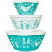 Vintage Charm Inspired by Pyrex 6-Piece Mixing Bowl Set ...