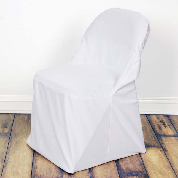 folding chair slipcovers white ghost efavormart linen polyester large oversized cover dinning for hotel dining wedding party events