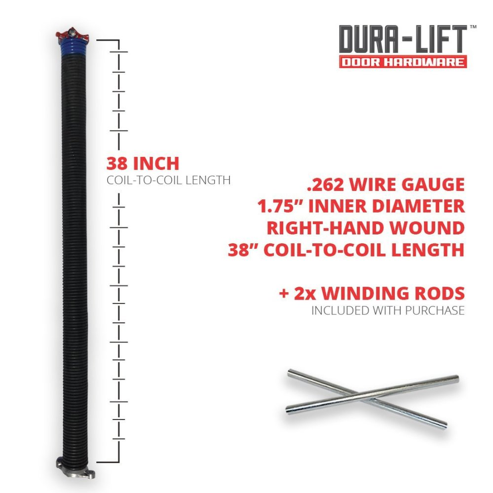 medium resolution of  left right wound springs for your sectional garage door measure 20 coils to determine spring wire gauge see by dura lift walmart com
