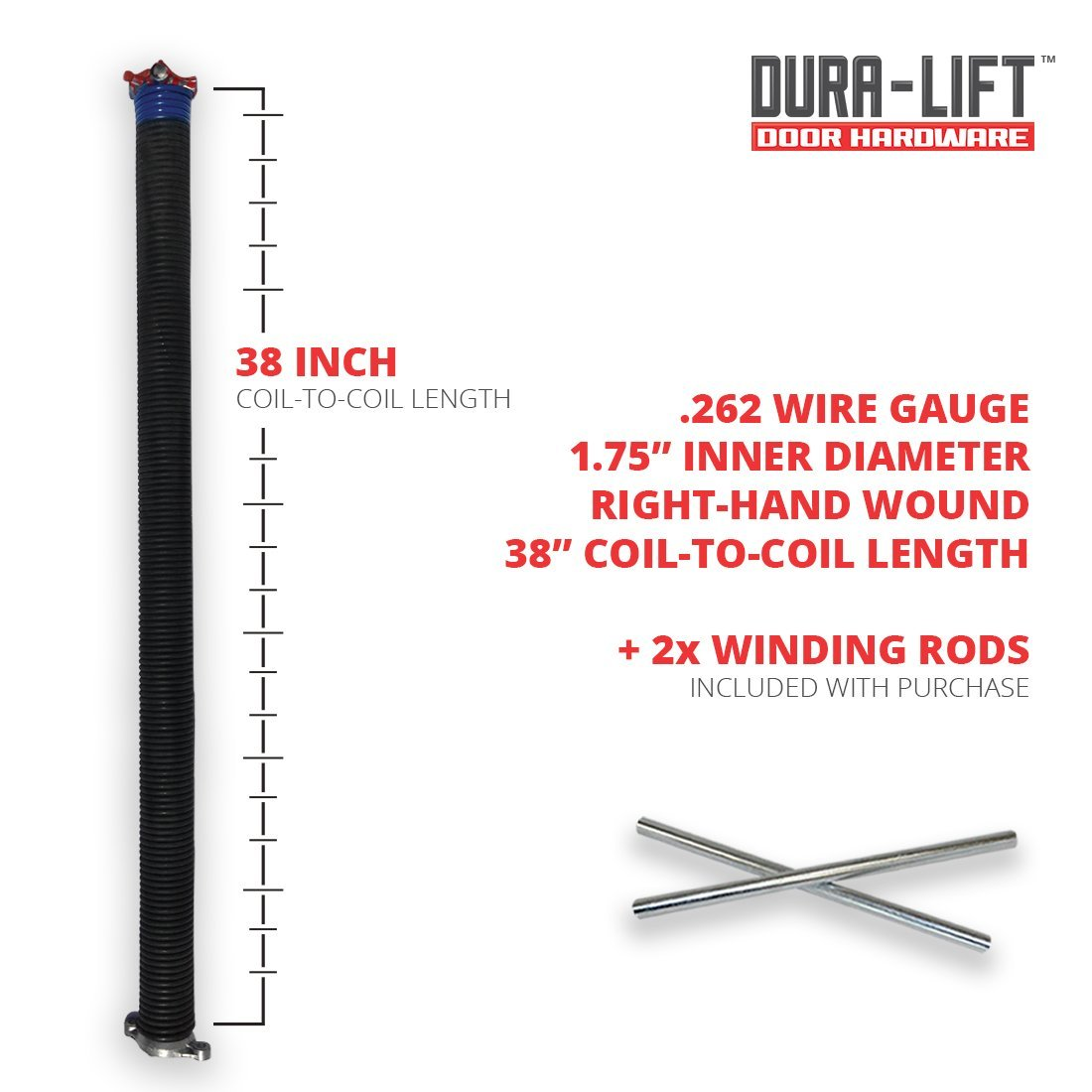 hight resolution of  left right wound springs for your sectional garage door measure 20 coils to determine spring wire gauge see by dura lift walmart com