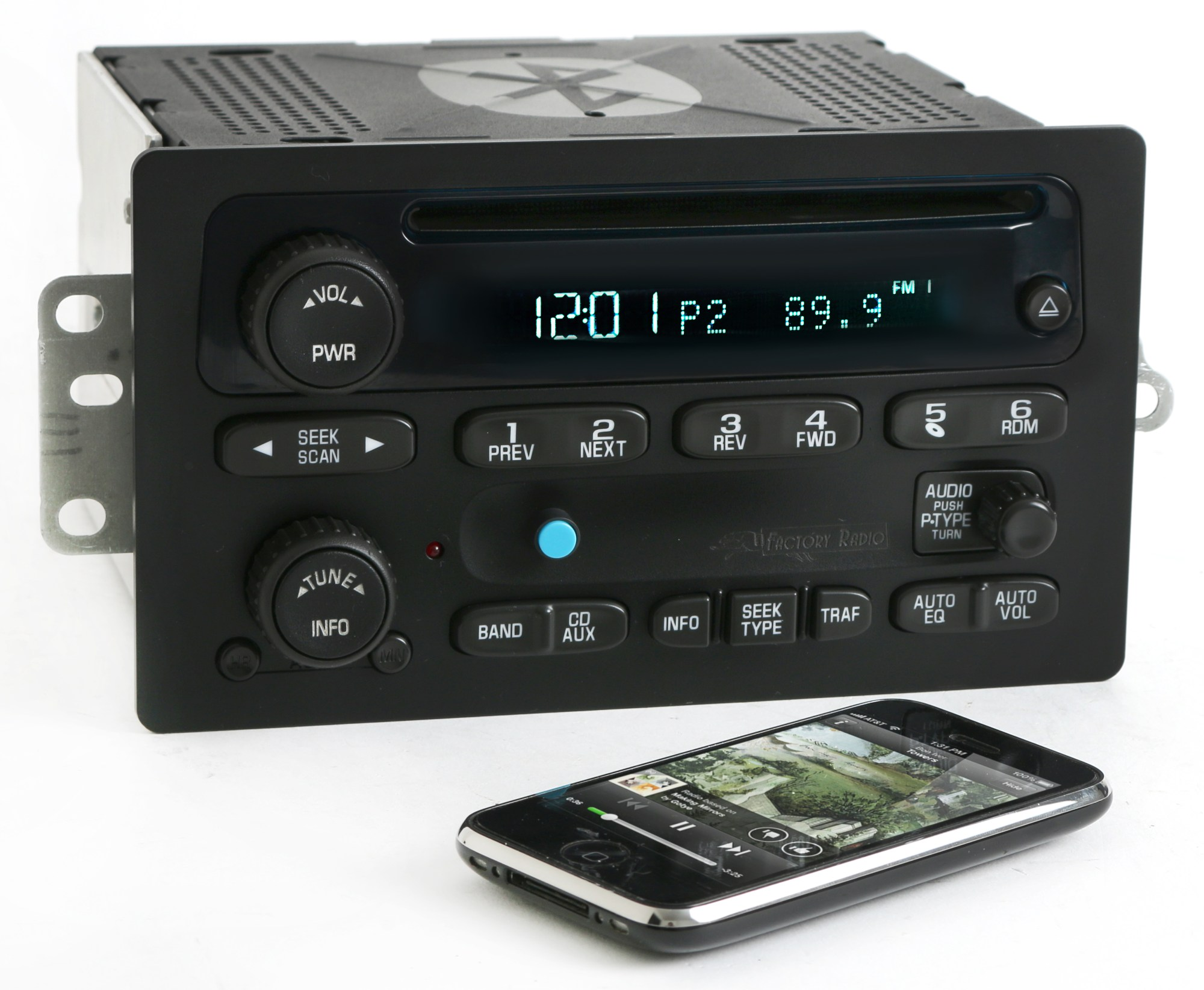 hight resolution of chevy gmc 03 05 truck radio am fm cd player upgraded w bluetooth music 15138488 refurbished walmart com
