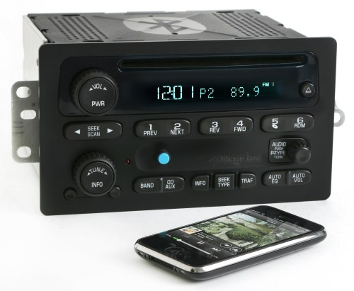 small resolution of chevy gmc 03 05 truck radio am fm cd player upgraded w bluetooth music 15138488 refurbished walmart com