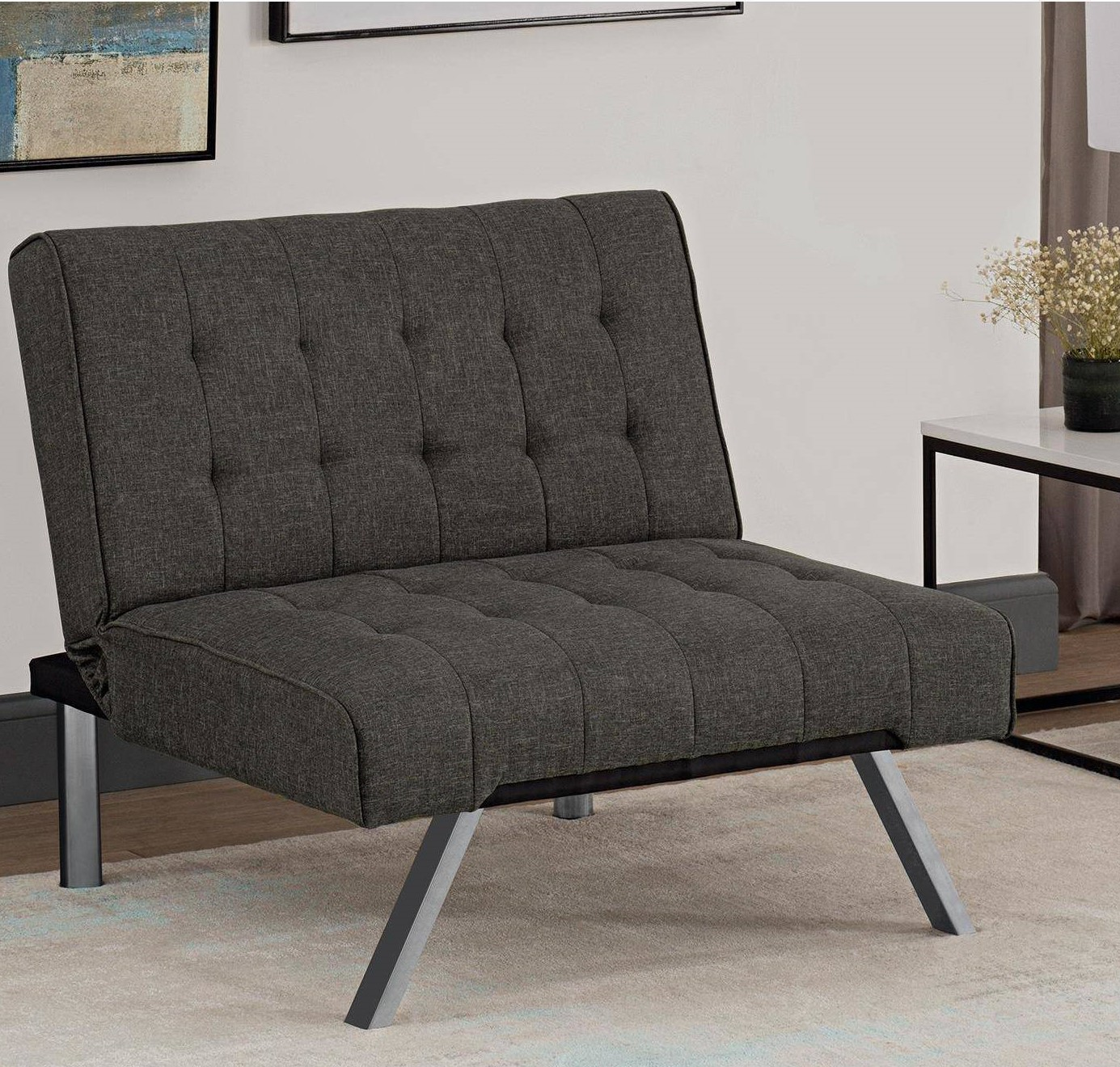 tufted accent chairs pc desk and chair dhp emily multiple colors available walmart com