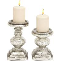 The Traditional Set Of 2 Glass Candle Holder - Walmart.com