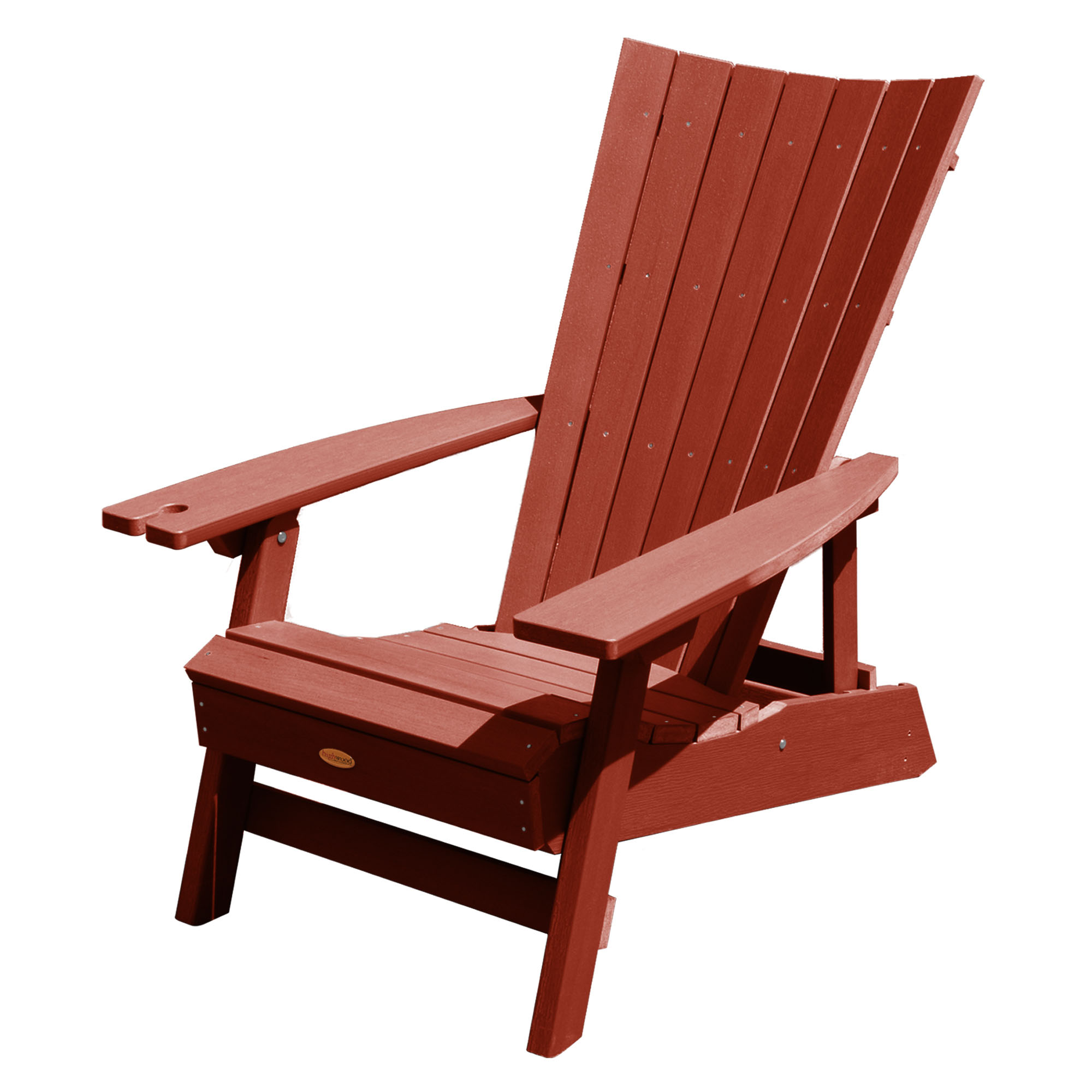 highwood adirondack chair cafe rattan french bistro chairs manhattan beach with wine glass holder