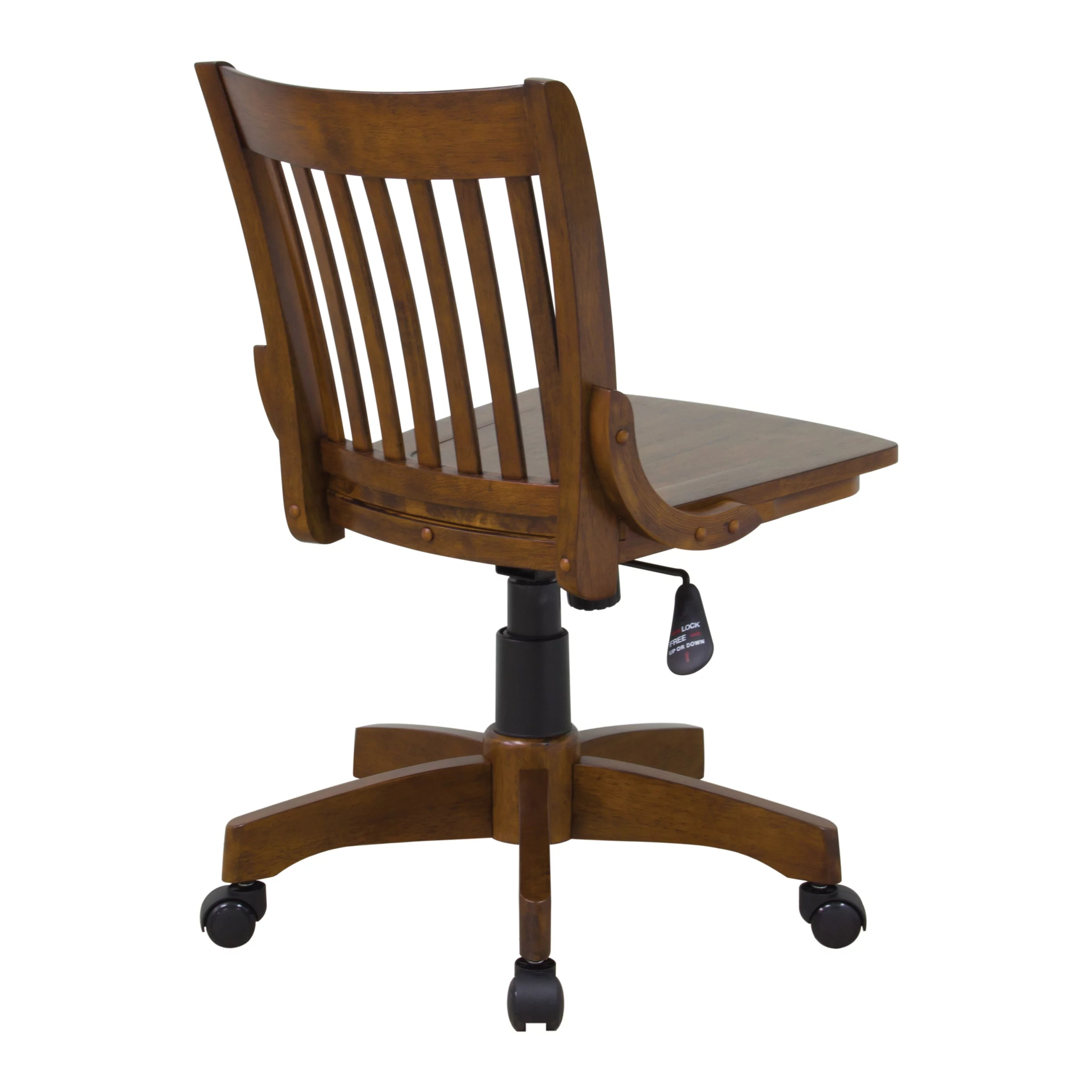 Osp Designs Deluxe Armless Wood Bankers Chair With Wood