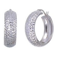 Sterling Silver Hoop Earrings (3/4 Inch) - Walmart.com