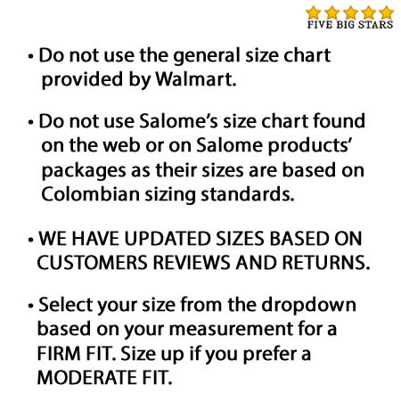 Fajas colombianas salome compression butt lifter shaping short levanta cola black xl walmart also rh