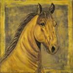D Oro Palomino Horse Painting Print On Wrapped Canvas Walmart Com Walmart Com