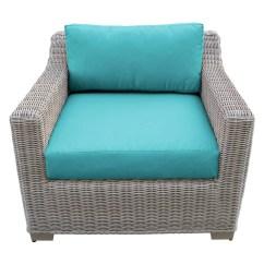 Patio Club Chair Cushions With Velcro Fasteners Tk Classics Coast Wicker Walmart Com