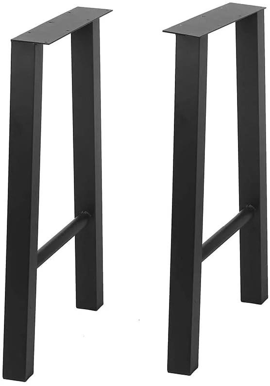 metal furniture legs 2 pcs h27 95 xw17 72 black cast iron coffee table legs industrial dining table legs heavy duty square tube desk legs