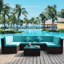 merax 7-piece patio furniture set