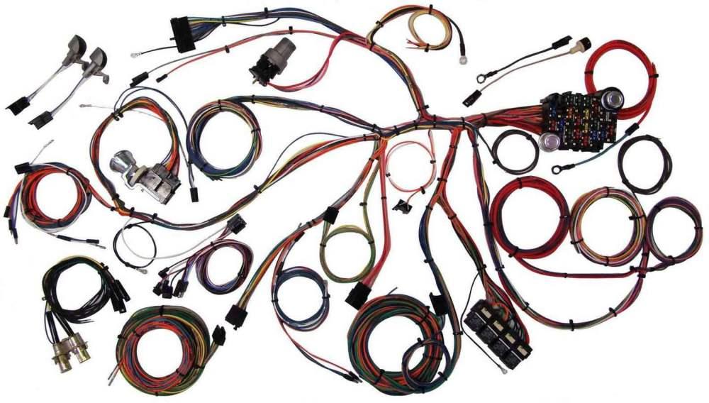 medium resolution of american autowire wiring system mustang 1967 68 kit p n 510055 walmart com