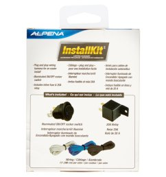 alpena universal automortive install kit on off rocker switch 20amp relay 3 wiring harness walmart com [ 2365 x 2365 Pixel ]