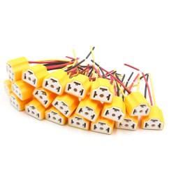 20pcs h4 ceramic 3 wires harness socket car fog light bulb extension connector walmart com [ 1100 x 1100 Pixel ]