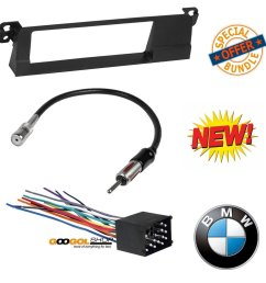 99 01 e46 3 series car stereo radio kit dash installation trim w wiring harness and antenna walmart com [ 1341 x 1369 Pixel ]