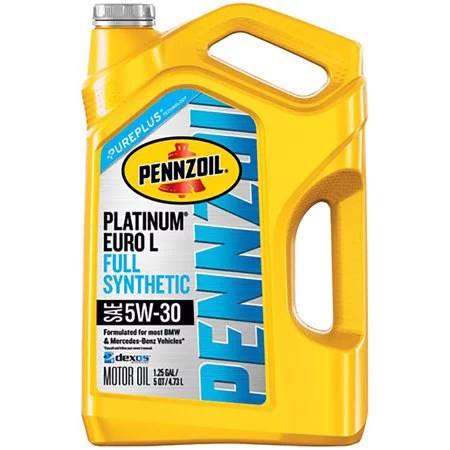 Pennzoil Platinum Euro L 5W-30 Full Synthetic Motor Oil, 5 Quart