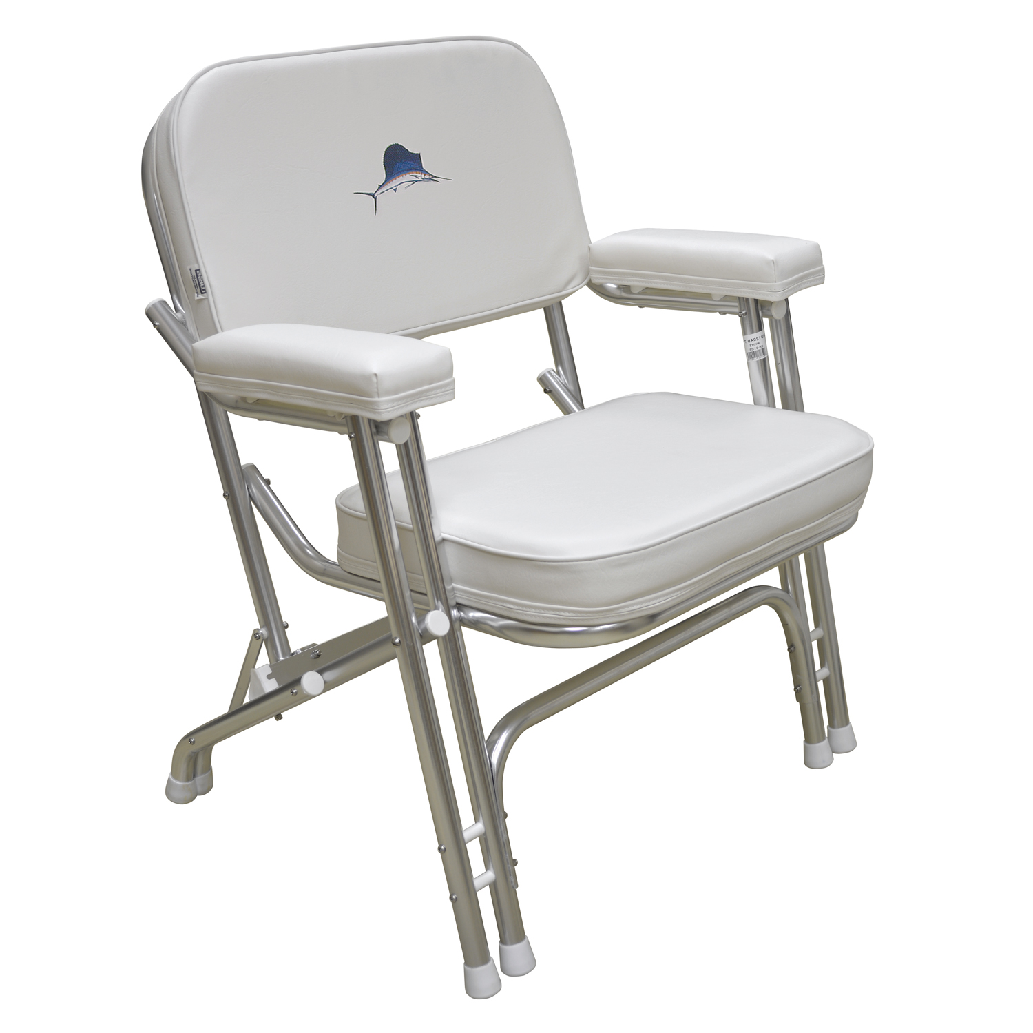folding chair embroidered swivel post bushing wise 8wd119 710 deck with marlin logo walmart com