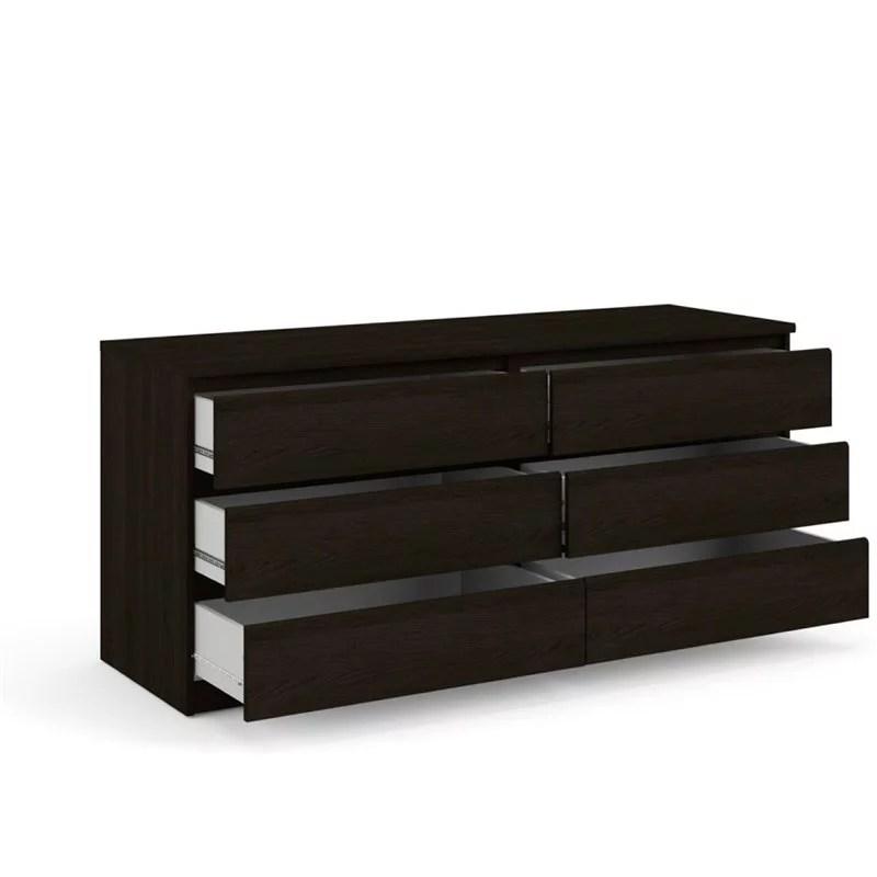 atlin designs 6 drawer double dresser in coffee